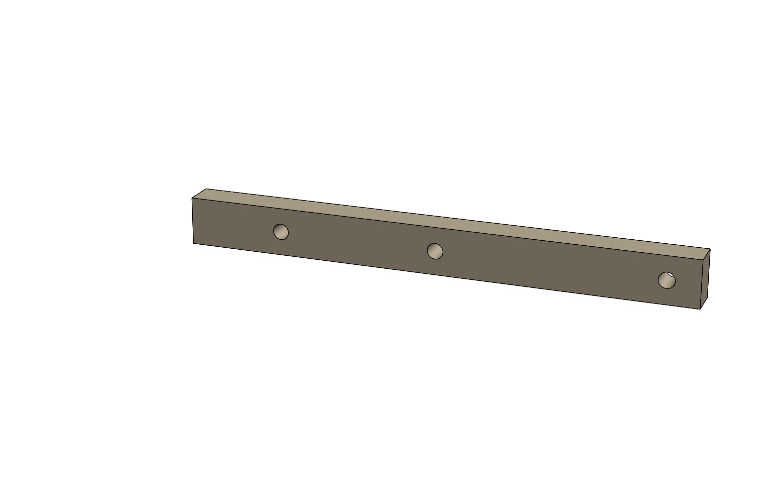 C01108 - CARRIAGE GUIDE PLATE TOP - King CF100 Spare Part