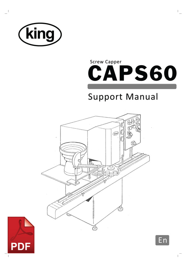 King CAPS60 Screw Capper User Instructions and Servicing Manual