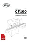 King CF150 Cotton Wool Inserting Machine User Instructions and Servicing Manual