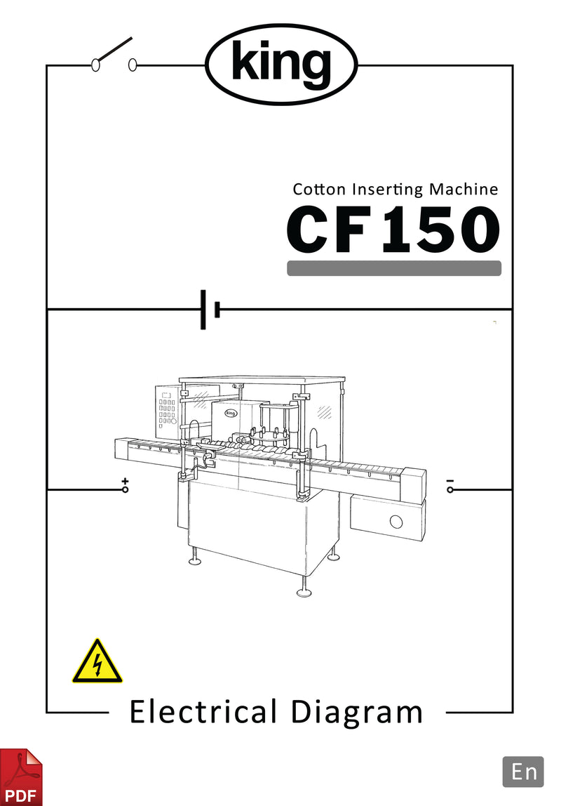 King CF150 Cotton Inserting Machine Electrical Diagram and Circuit Description