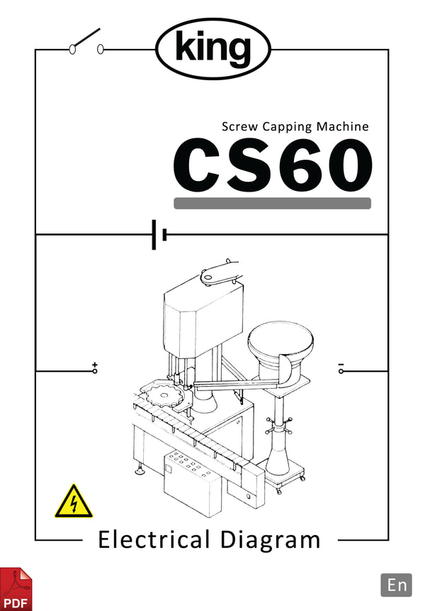 King CS60 Screw Capping Machine Electrical Diagram and Circuit Description