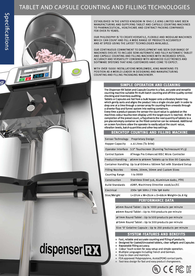 Capsule and tablet counter brochure