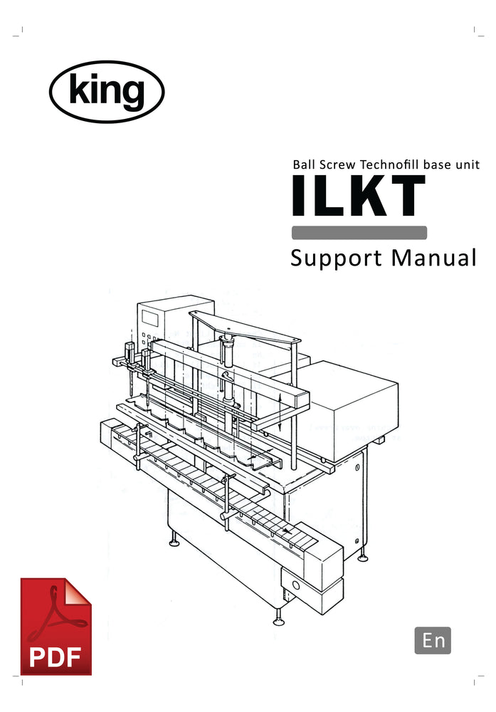 King ILKT Ball Screw User Instructions and Servicing Manual