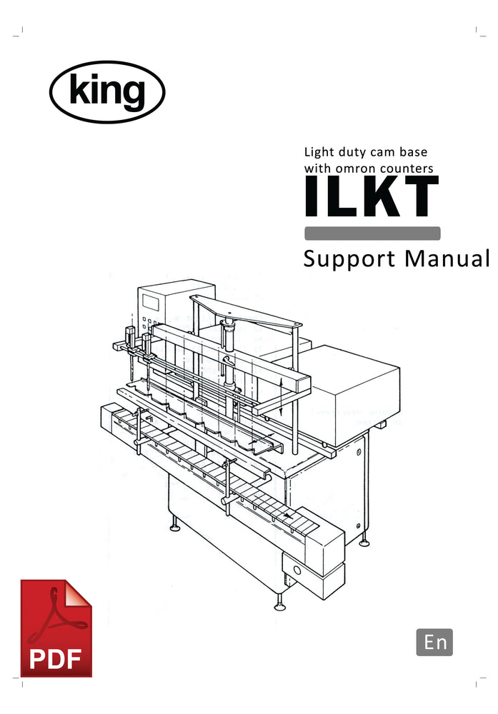King ILKT Light Duty Base Unit with Omron Counters User Instructions and Servicing Manual
