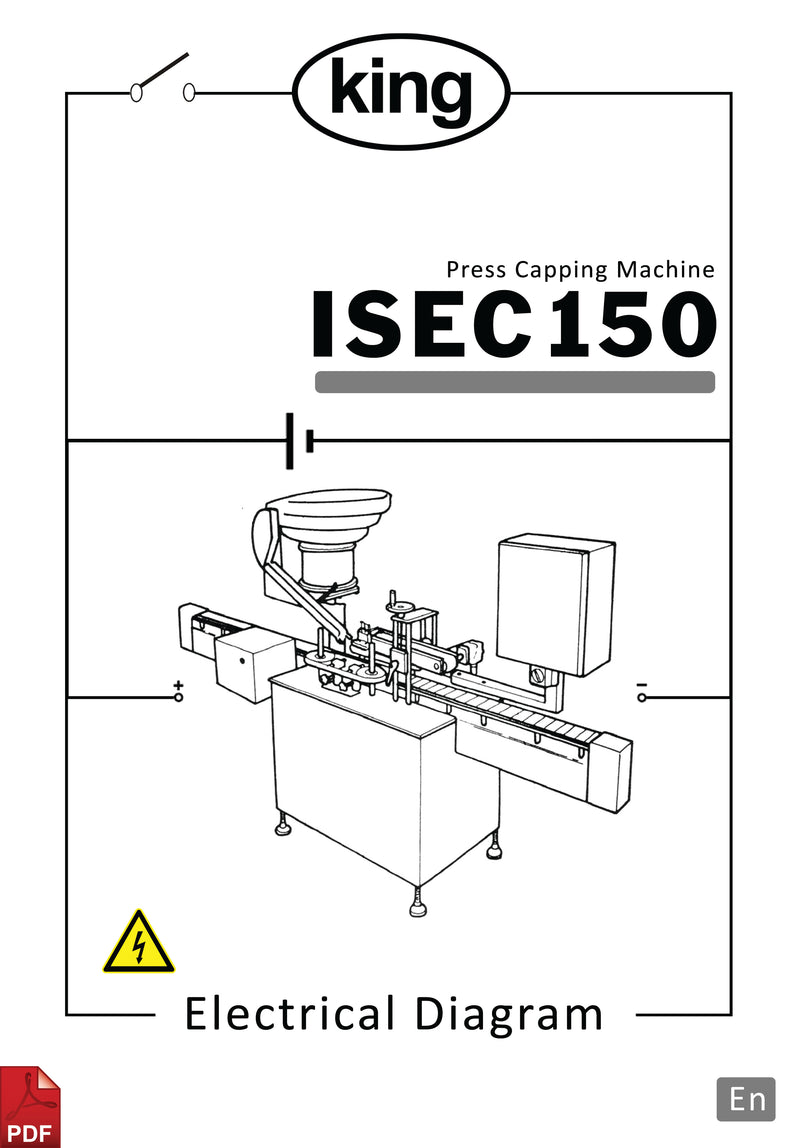 King ISEC 150 50HZ Press Capper Electrical Diagram and Circuit Description