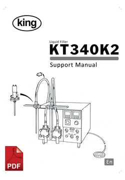 KT340K2 Liquid Filler Service and Spare Parts Manual | Spare Parts for King, Kalish and Swiftpack Packaging Machines