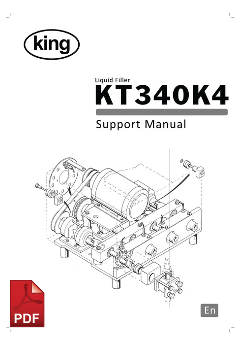 King KT340K4 Liquid Filling Machine User Instructions and Servicing Manual