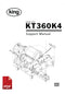 King KT360K4 Liquid Filling Machine User Instructions and Servicing Manual