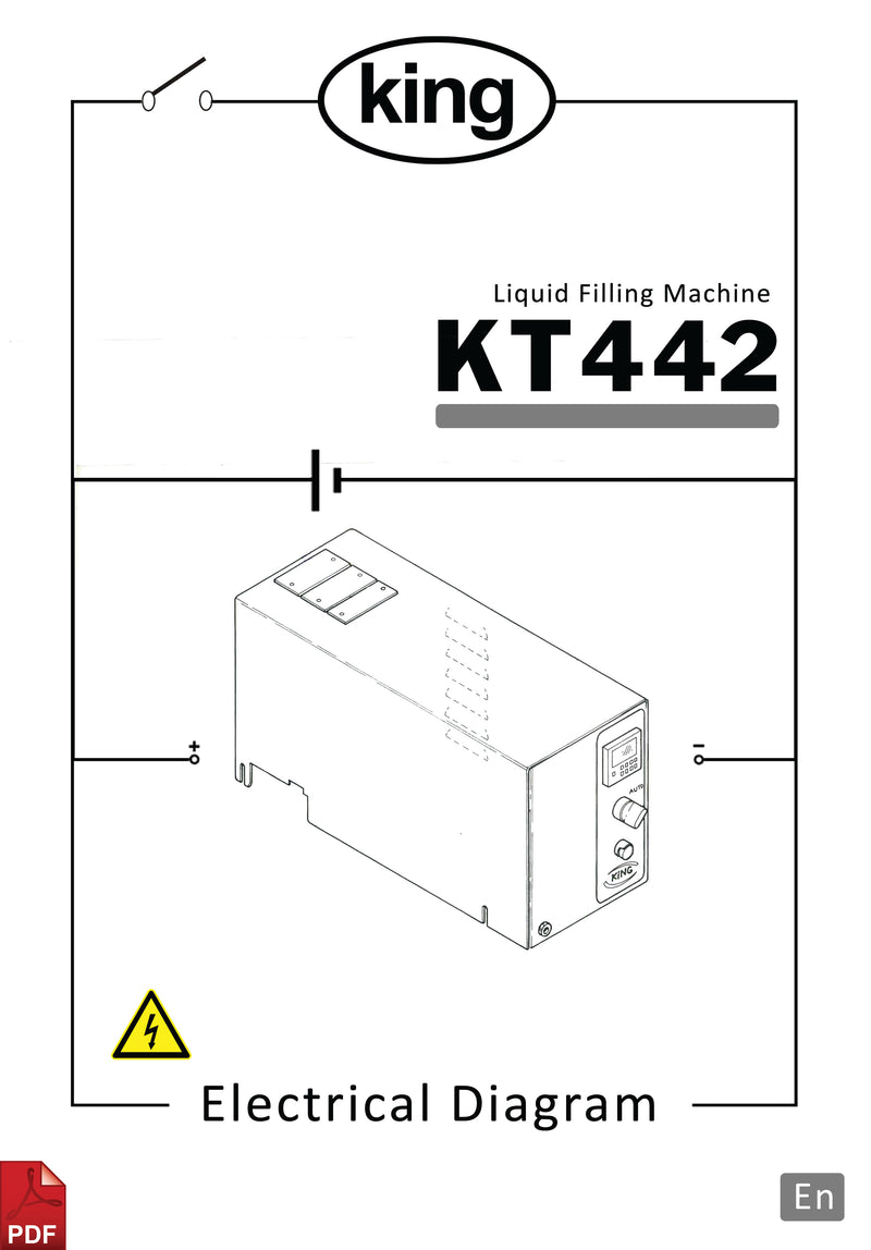 King KT442 Bottle Filler Electrical Diagram and Circuit Description