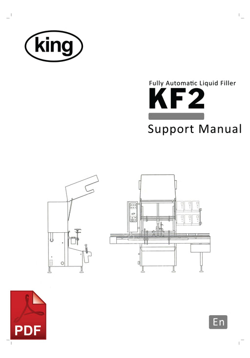 KF2 Fully Automatic Liquid Filling Machine Service and Spare Parts Manual | Spare Parts for King, Kalish and Swiftpack Packaging Machines