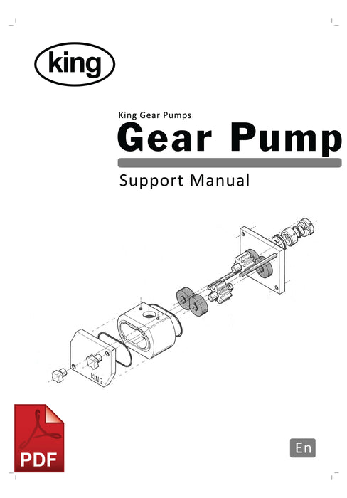 King Gear Pump User Instructions and Servicing Manual