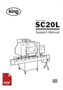 King SC20L Slat Counter User Instructions and Servicing Manual