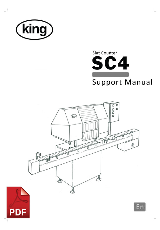 King SC4 Slat Counter User Instructions and Servicing Manual