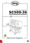 King SC500-36 60HZ Tablet Counter with Scroll Electrical Diagram and Circuit Description