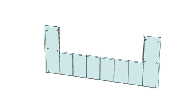 SCM13121 - LOWER FRONT WINDOW for a Slat Filler