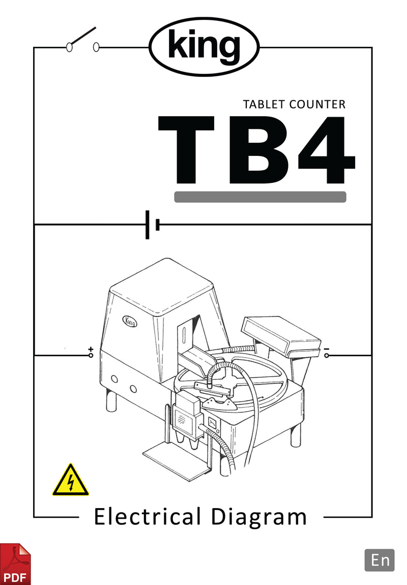 King TB4 Tablet Counter Electrical Diagram and Circuit Description