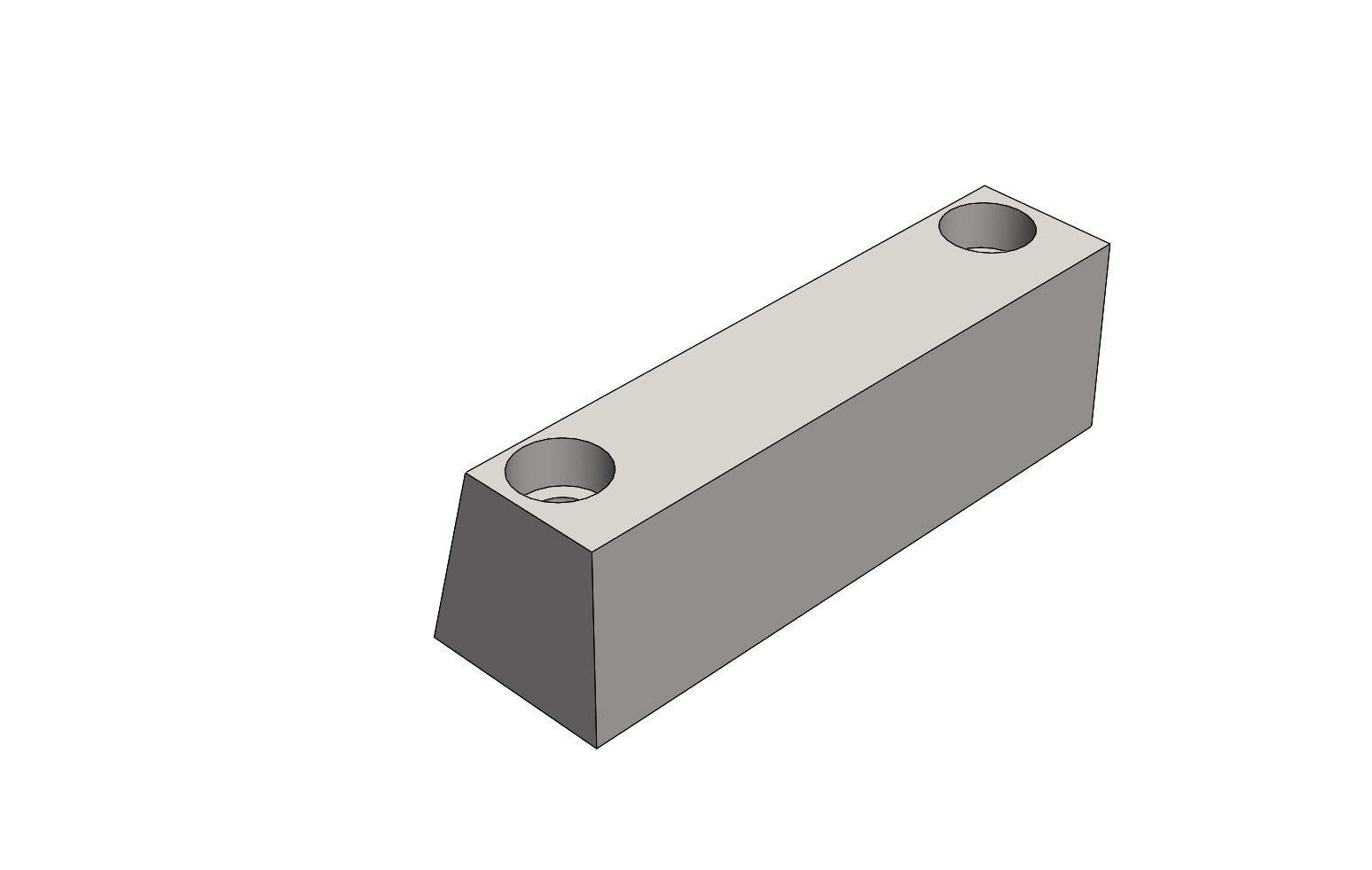 TB13053A MOUNTING BLOCK LOWER - King TB4 Spare Part