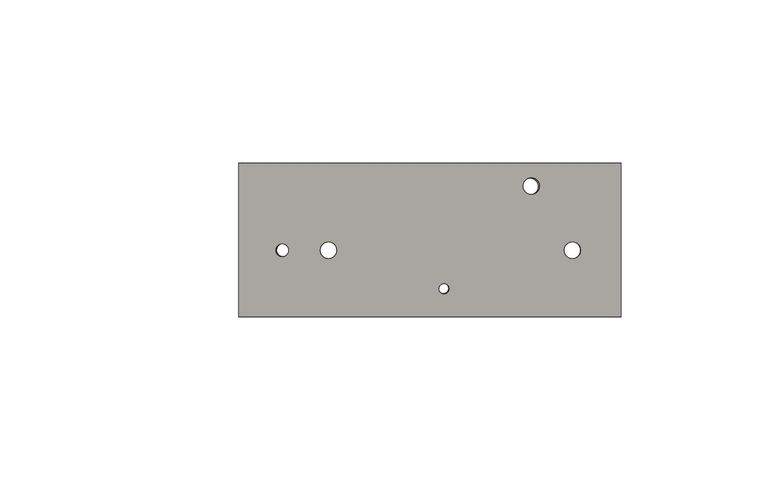 TB13370A DOOR PLATE - King TB4 Spare Part