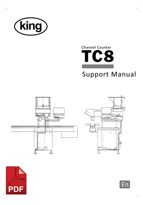 King TC8 Channel Counter User Instructions and Servicing Manual