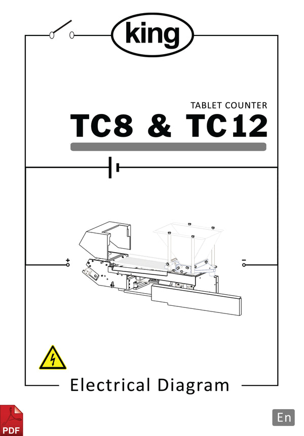 King TC8 and TC12 Bench top Tablet and Capsule Counter Electrical Diagram and Circuit Description