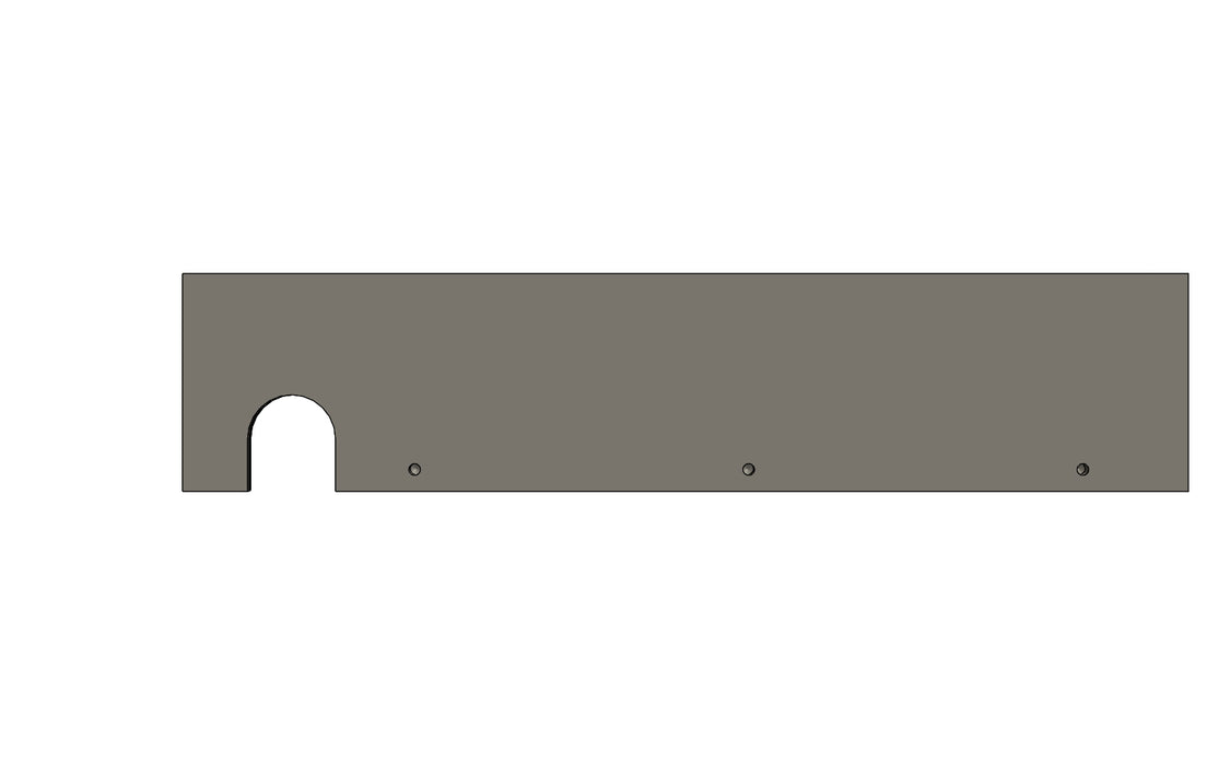 TC6272090A - REAR PLATE - King TC8 Spare Part