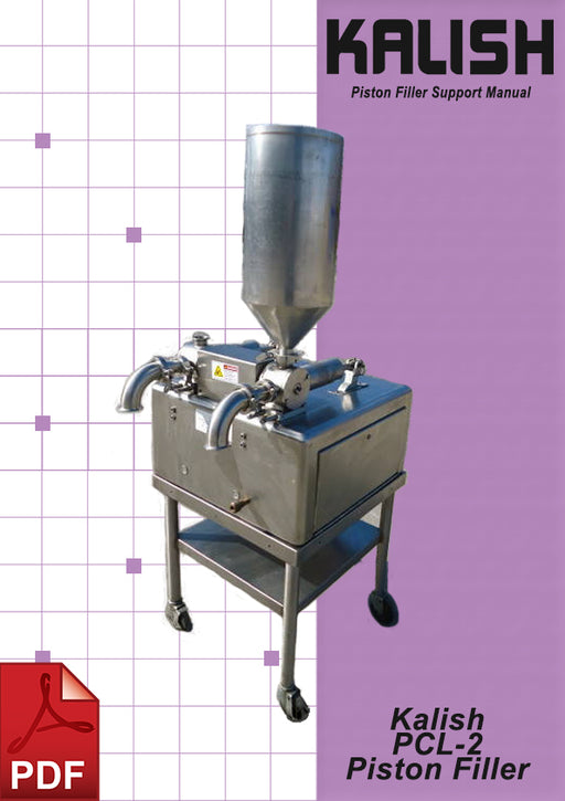 Kalish PCL-2 Piston Filler Service and Spare Parts Manual | Spare Parts for King, Kalish and Swiftpack Packaging Machines