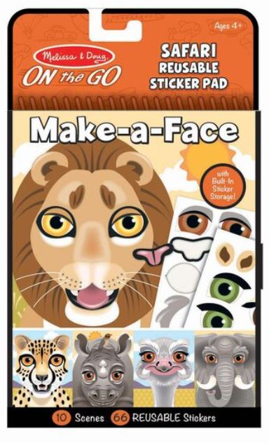 Make - A - Face Safari Reusable Sticker - Elegant Mommy