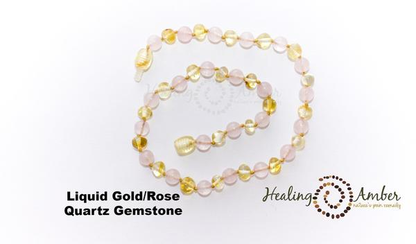 Healing Amber: Child Amber Necklace 13in - Elegant Mommy