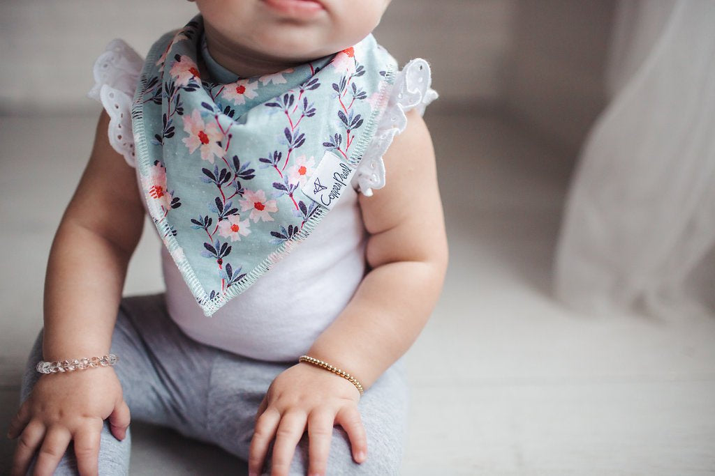 Copper Pearl Morgan Bibs - Elegant Mommy