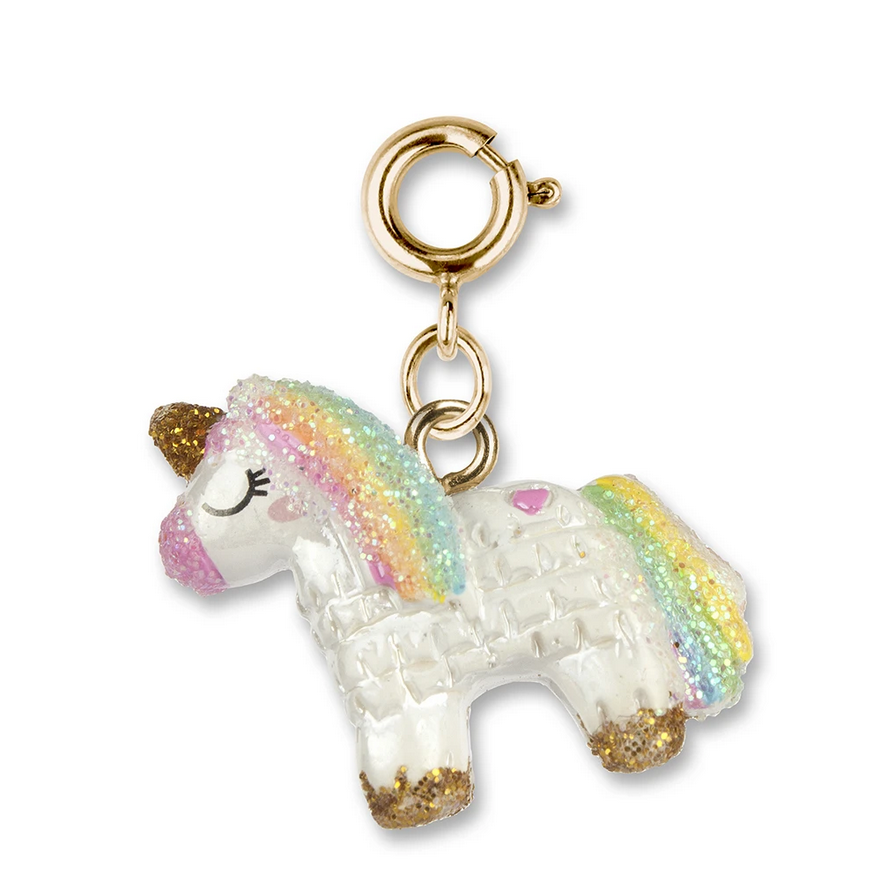Gold Unicorn Piñata Charm - Elegant Mommy