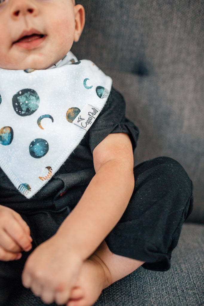 Copper Pearl Galaxy Bib - Elegant Mommy