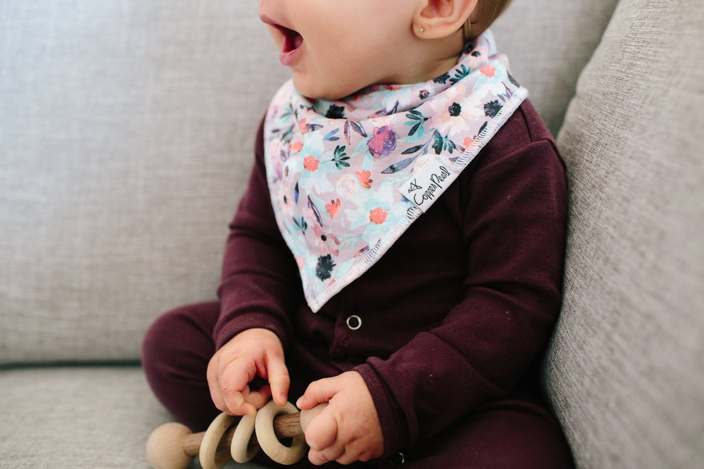 Copper Pearl Bandana Bibs Sets A-H - Elegant Mommy