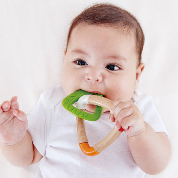 Happy Baby- Double Triangle Teething Toy - Elegant Mommy