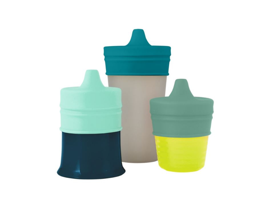 Boon Snug Spout 3 Pack Lids - Green - Elegant Mommy