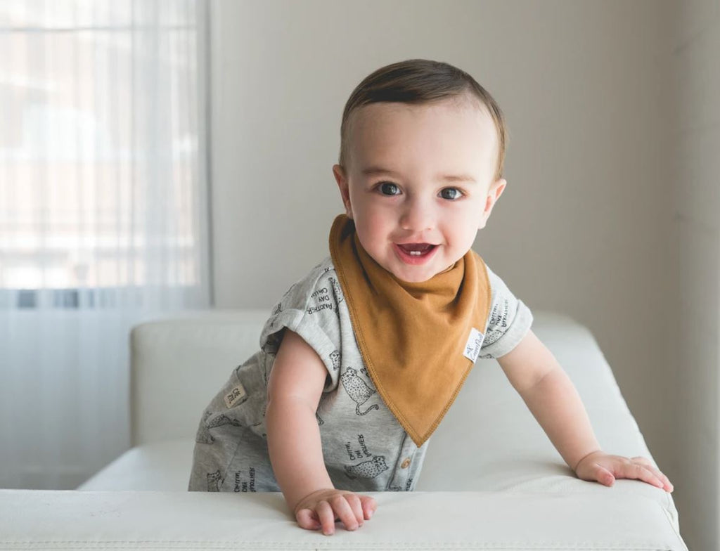Copper Pearl Ridge Bibs - Elegant Mommy