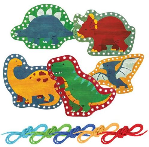LACING CARDS DINO - Elegant Mommy