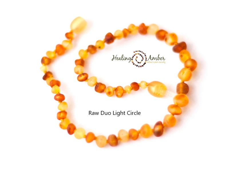 Healing Amber: Child Amber Necklace 11in - Elegant Mommy