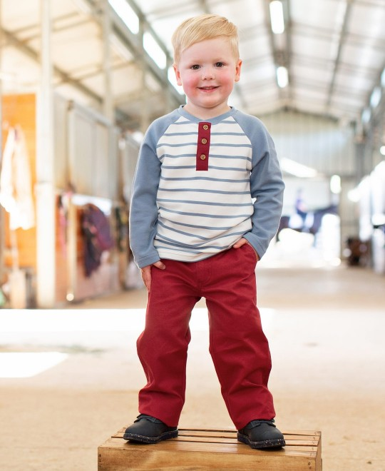 RuffleButts : Pants Cranberry Chino 18-24m - Elegant Mommy
