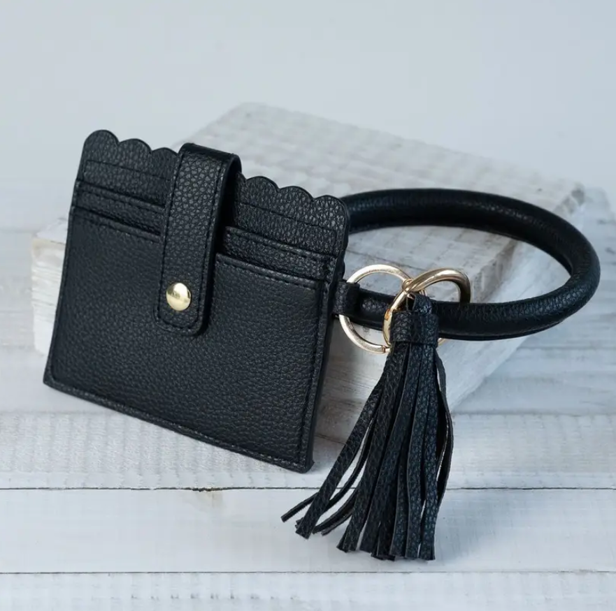 Card Holder + Key Chain - Elegant Mommy