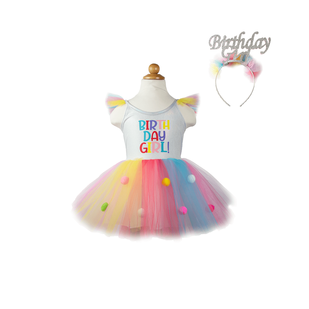 Birthday Girl Dress w/ Headband - Elegant Mommy
