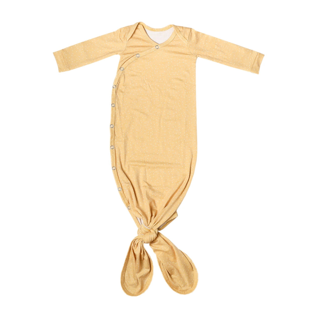 Marigold Newborn Knotted Gown - Elegant Mommy