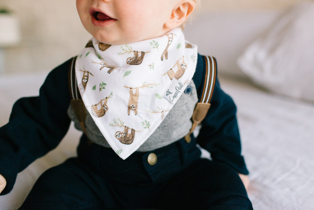 Copper Pearl Noah Bibs - Elegant Mommy