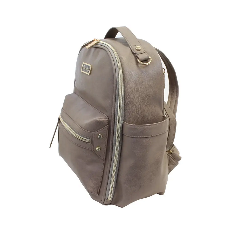 Itzy Mini Backpack Taupe - Elegant Mommy