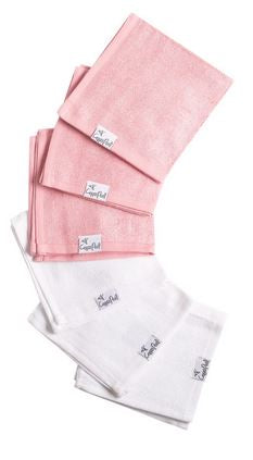Copper Pearl Washcloths Pink - Elegant Mommy