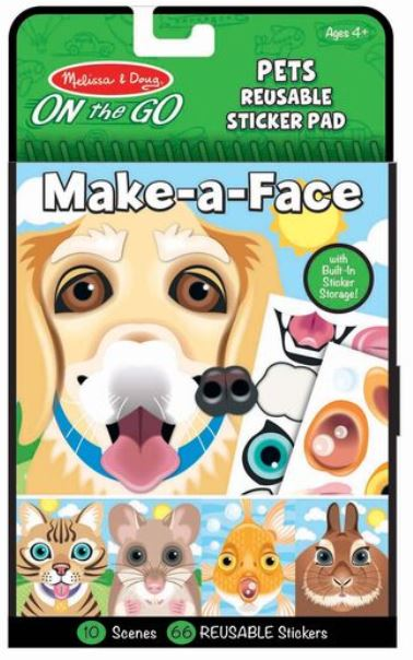 Make-a-Face Pets Reusable Sticker - Elegant Mommy
