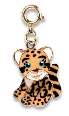 Gold Cloud Leopard Charm - Elegant Mommy