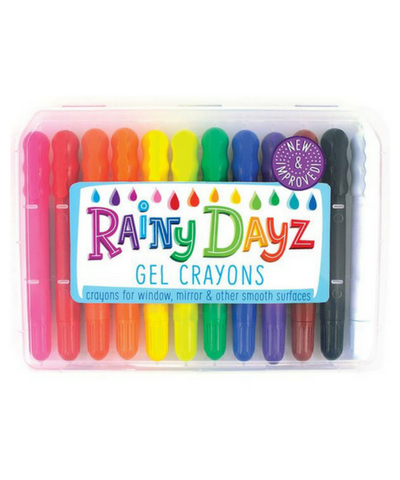 Ooly: Rainy Dayz Gel Crayons - Set of 12 - Elegant Mommy