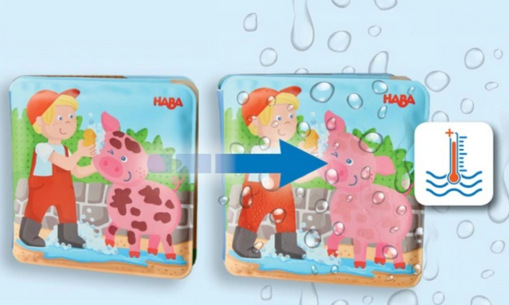 Wash Away Bath Book Farm Animals - Elegant Mommy