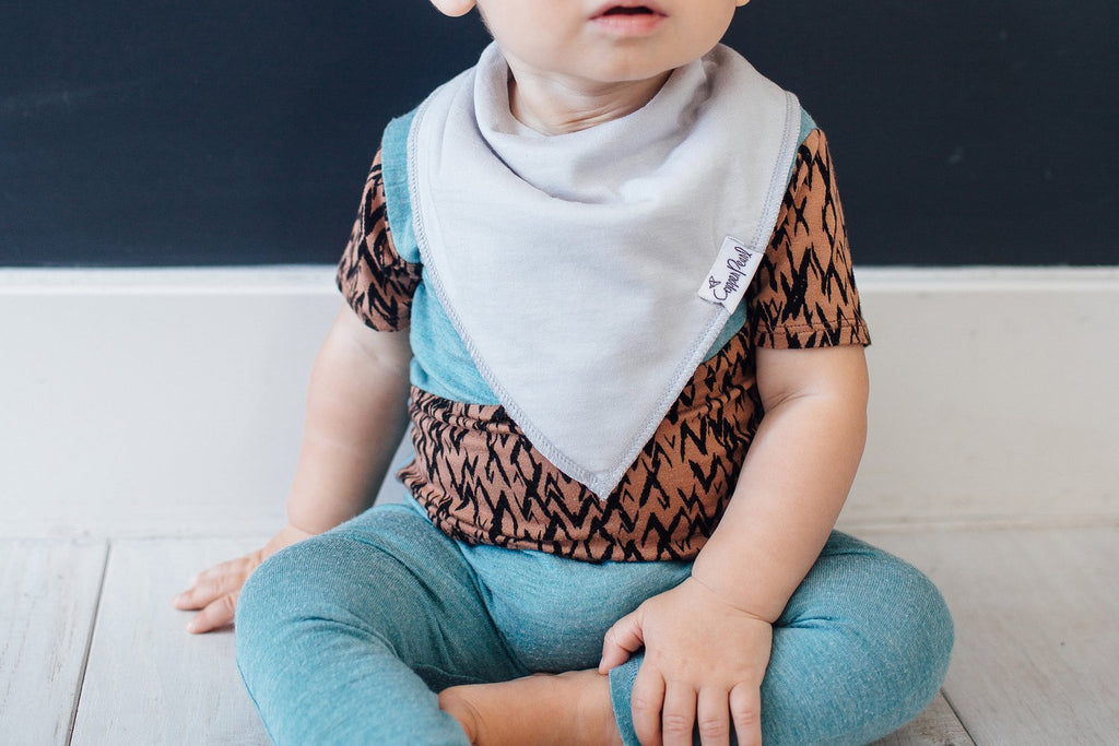 Copper Pearl Oxford Bibs - Elegant Mommy