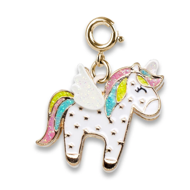 Gold Flying Unicorn Charm - Elegant Mommy